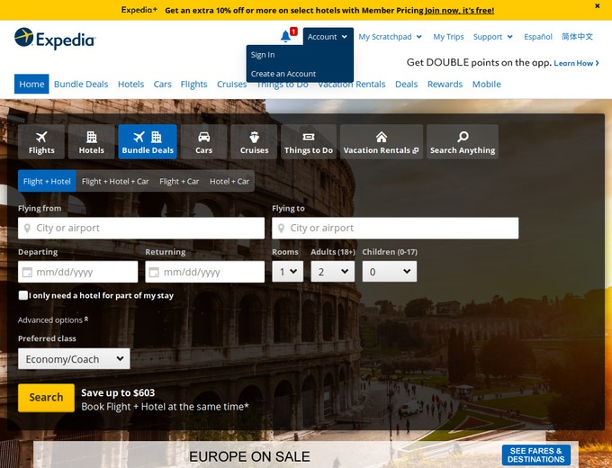 Expedia coupon codes flights