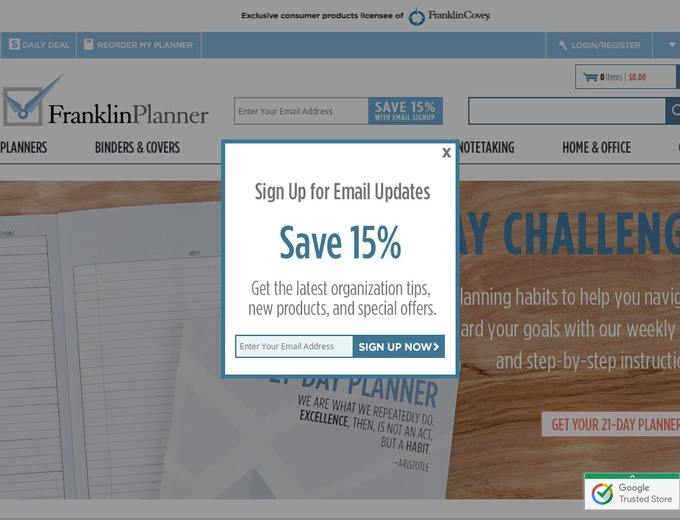 Franklin covey coupon code