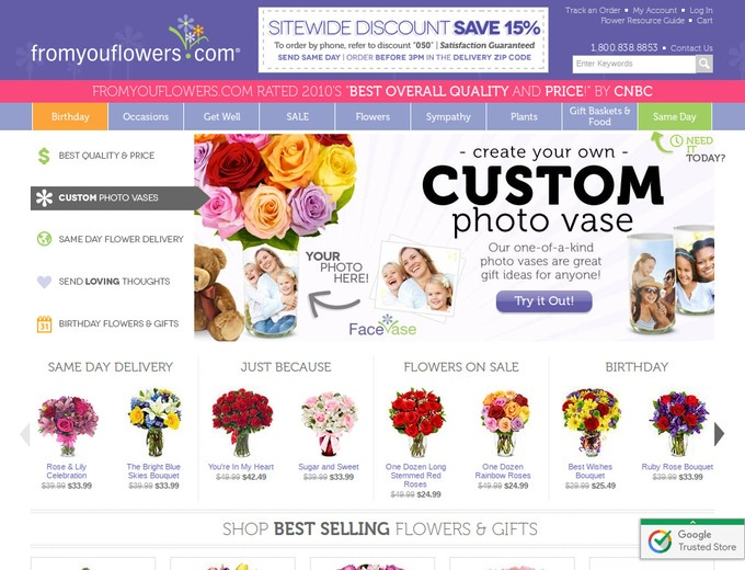 Fromyouflowers coupon code
