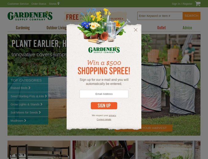 Coupons gardeners supply company promotion for Gardeners supply company catalog