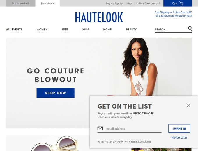 Try Recently Inactive HauteLook Coupons