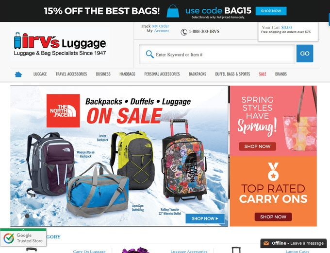 Irvs Luggage Coupons   Irvs Luggage Promotion Codes 9c87e94f7b