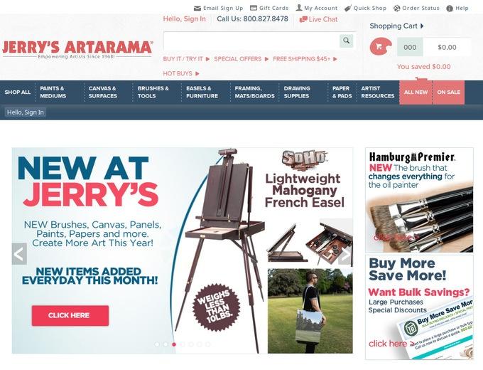 Jerry's artarama coupon code