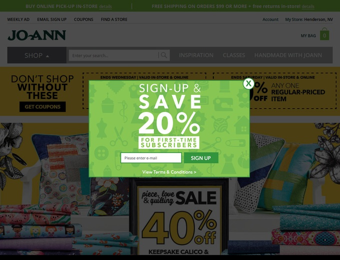 Joann com Coupons & Joann Promotional Codes