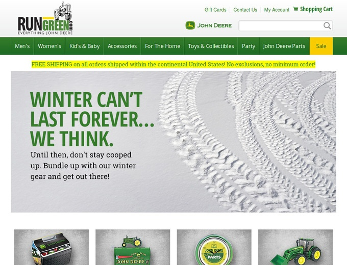 bauernhoftester.ml offers merchandise from John Deere including its famed tractor parts and home maintenance kits. Apparel is a relatively new addition but has gained immense popularity with logo tee shirts, leather bomber jackets, capri pants, and baby clothing.