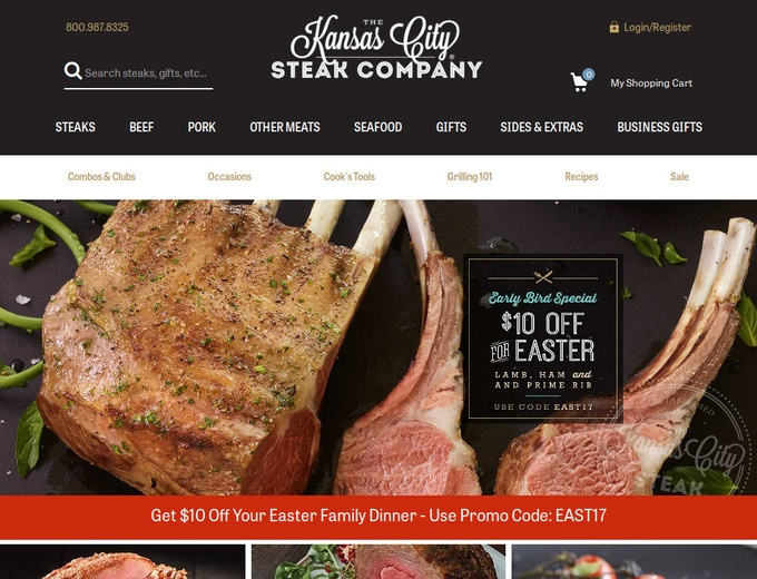 Use promo code in the shopping cart for offer to apply. Offer expires 4/30/ at pm CT. Not valid on gift certificates or prior purchases. Cannot be combined with other promotional offers. The Kansas City Steak Company(R) reserves the right to cancel or modify offer at any time. Other restrictions may apply. expired: 04/30/