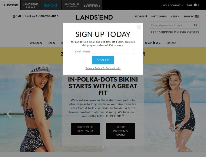 free shipping from lands end code