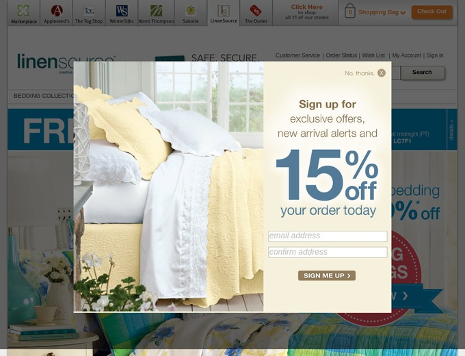 Linensource coupons discount codes