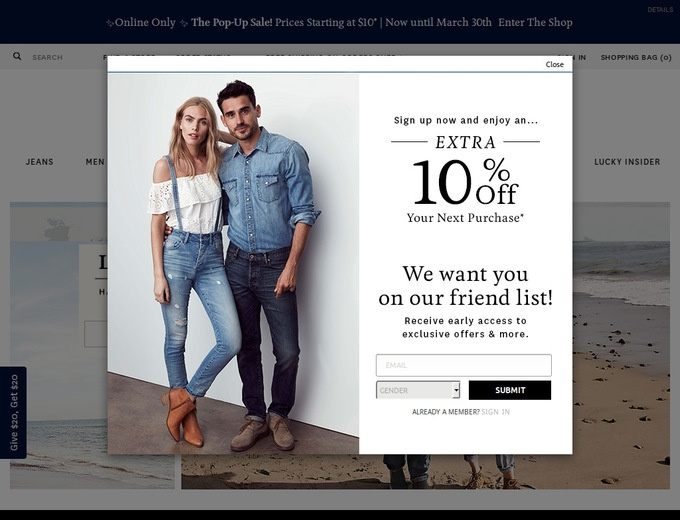 Coupon for lucky brand outlet