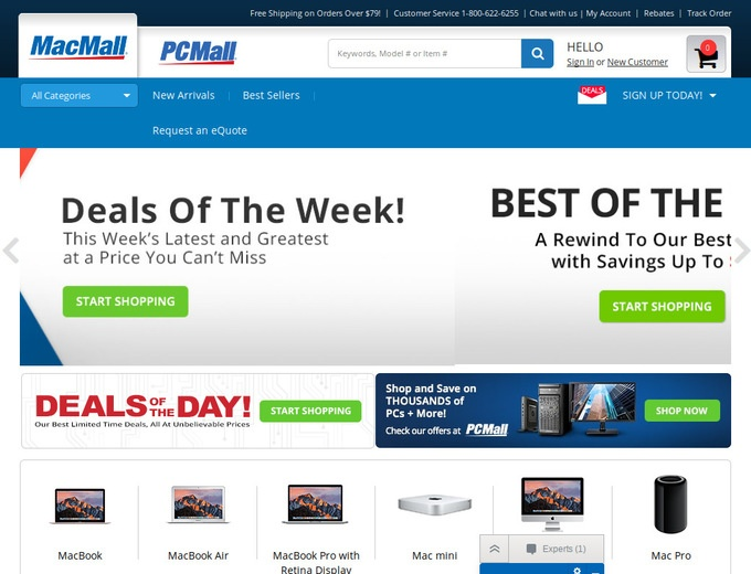 MacMall also maintains a list of business equipment specials, as well as hundreds of Mac and PC software titles from Microsoft, Adobe, and others. Save on everything you need for work, home, or school with MacMall online coupons.