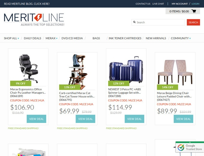 4 active Meritline Vouchers & Coupons Visitors save an average of $; To buy great electronic devices at a great price, get to Meritline and don't forget to use their special deals. Just choose one Meritline coupon and dare to save up to 80% off for daily deals at .