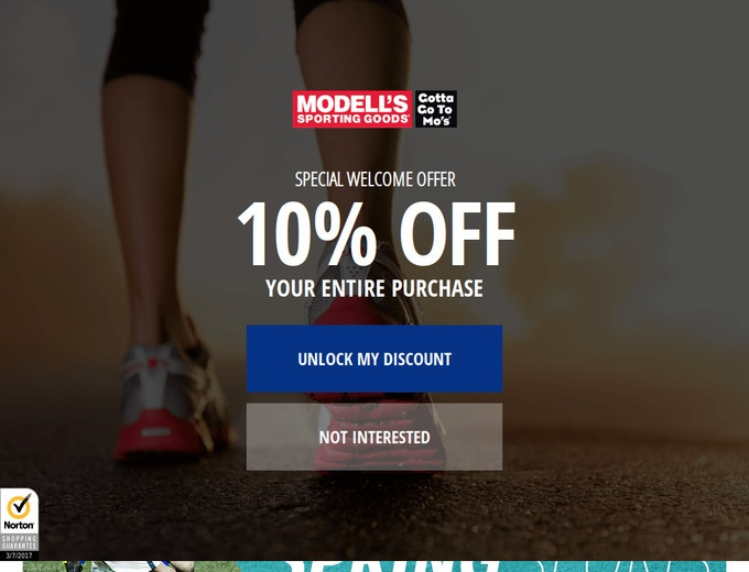 Modell's sporting goods coupon 2018