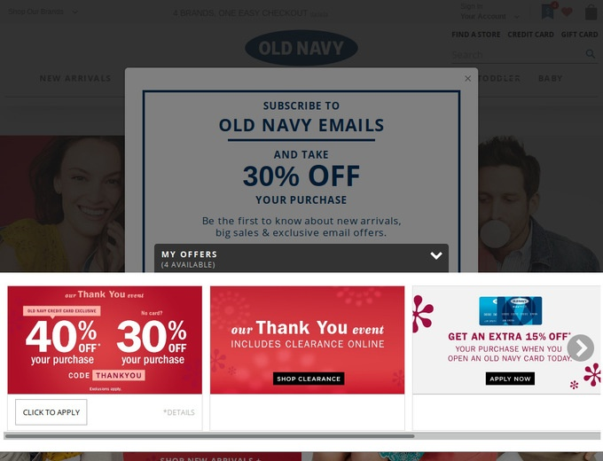 Oldnavy.com coupon code