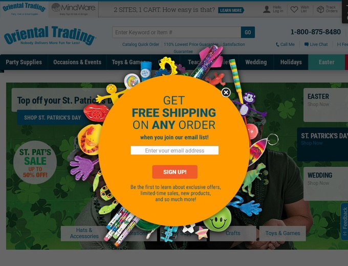 Oriental trading coupon codes