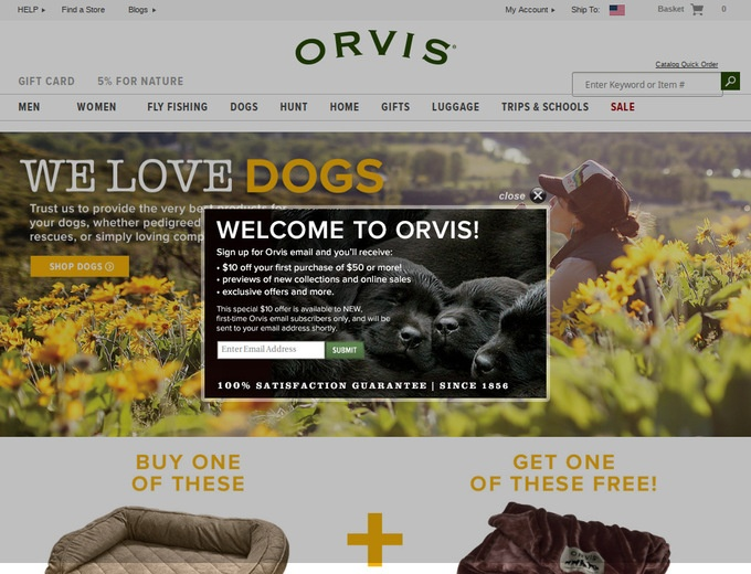 Visit our coupon page and discover the best deals on first quality inventory. Explore today's exceptional offers and check back often for reduced prices on the Orvis products you love.