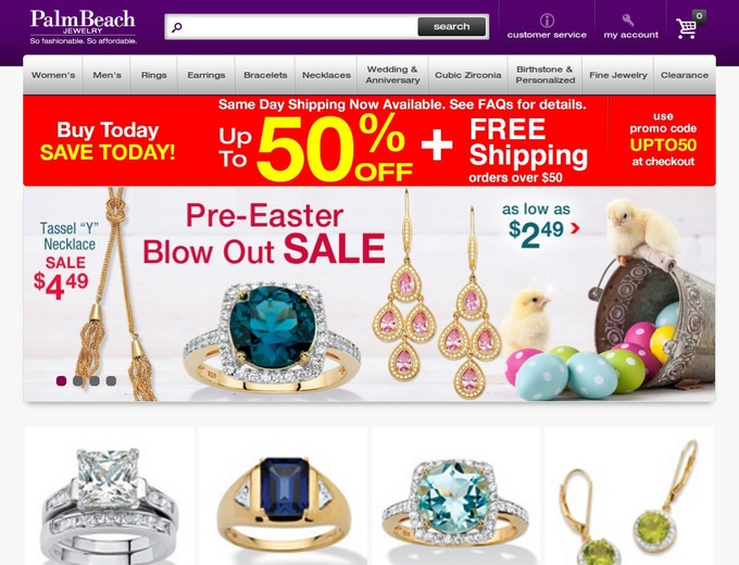 For Palm Beach Jewelry we currently have 3 coupons and 0 deals. Our users can save with our coupons on average about $ Todays best offer is 20% Off & Free Shipping on Orders $25+.