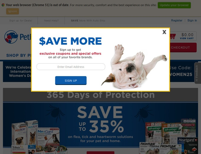 Online coupons pet food direct
