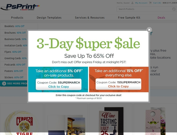 More About PsPrint Coupons