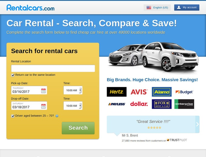 Rental car discount coupons