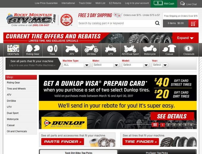 Rocky mountain atv mc coupon code