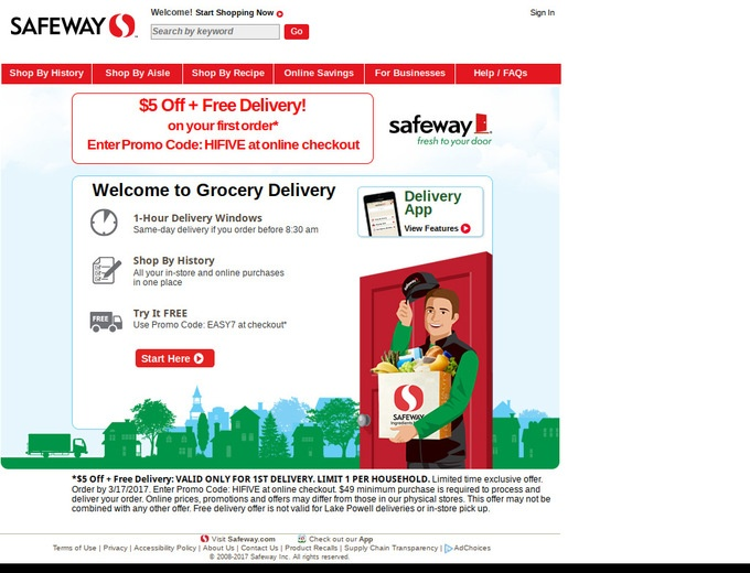 Safeway Coupon Codes 25 Off Free Delivery