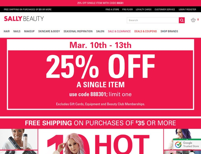 All beauty discount coupon