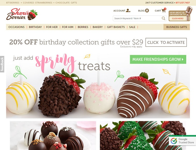 Shari's berries coupon code
