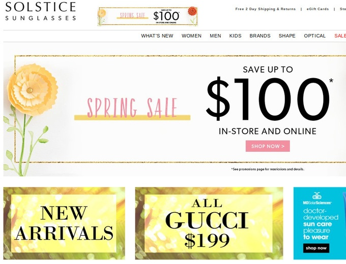 Join Solstice Sunglasses' email list to learn about new arrivals, special deals, and seasonal sales as soon as they happen. Their newsletter subscription is free, .