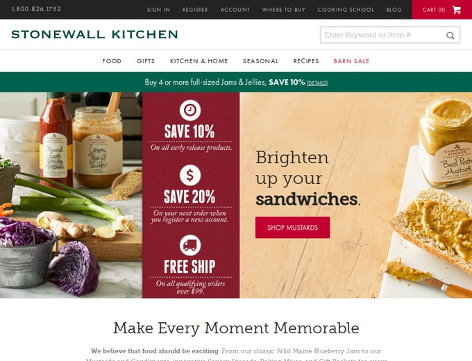 Stonewall Kitchen Black Friday Deals Don't miss out on upcoming Black Friday discounts, deals, promo codes, and coupons from Stonewall Kitchen! Here you'll find the official sale plus all deals leading up to the big day.