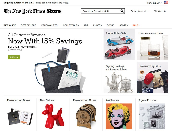 How to use a The New York Times Store coupon