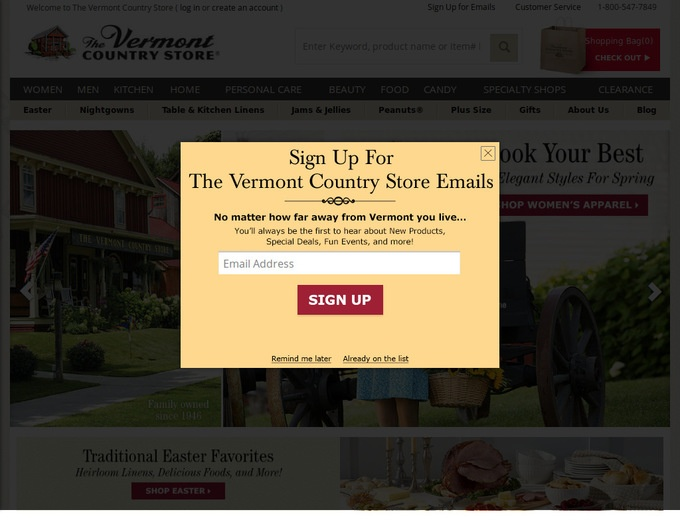Vermont country store coupon code