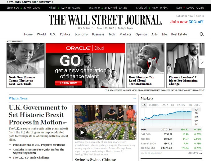 Claim: The Wall Street Journal ran Donald Trump stories with opposing headlines on the same critics-lucky.ml