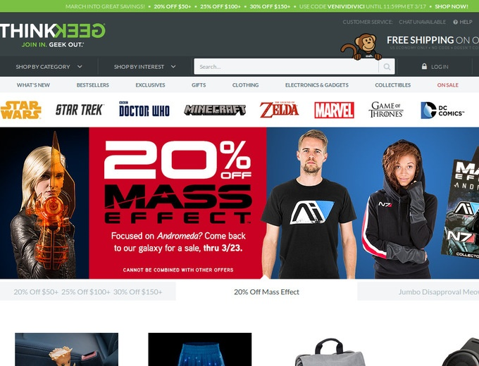 Think geek coupon codes