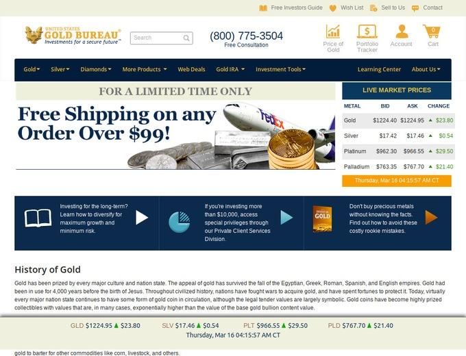 invest in gold bullion coins at u s gold bureau reviews. Black Bedroom Furniture Sets. Home Design Ideas