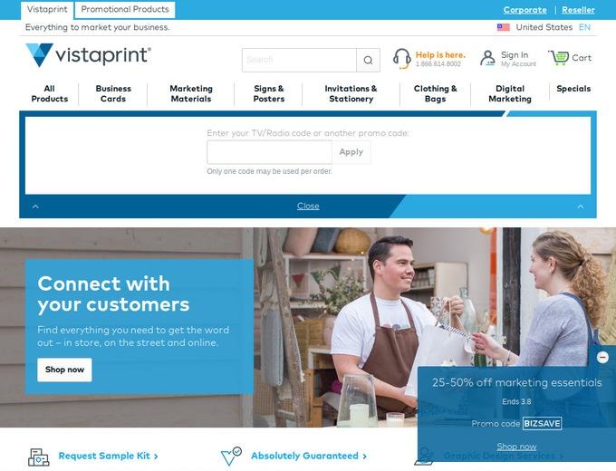 Vistaprint promo