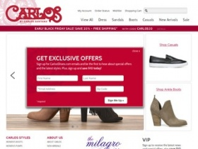 all online carlos shoes coupons and special offers are recorded in the