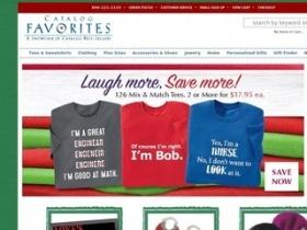 Catalog favorites coupon code