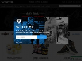 Rss. Tactics is a skate shop that sells skateboards, clothing, shoes, weitsuits, surf accessories at great price. All orders are free shipping here.