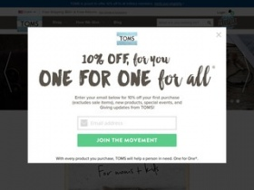 view a chart of online tomsshoes com coupons discount coupon codes and